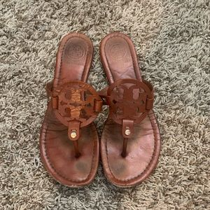 AUTHENTIC Brown Tory Burch Sandals SZ:8